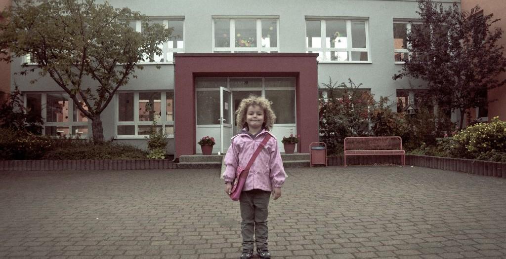 Auf dem Weg in den Kindergarten
