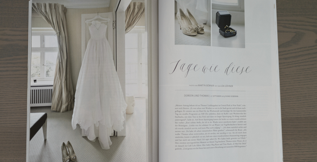Hochzeitsreportage in der Weddingstyle 04 / 2014