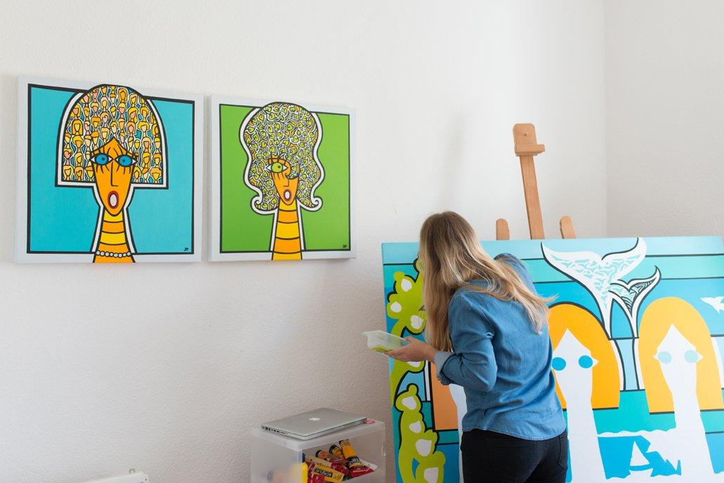 Portrait Künstler Julia Pittasch Artvergnügen